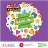 International Games Day Logo with cards, checkers, chess