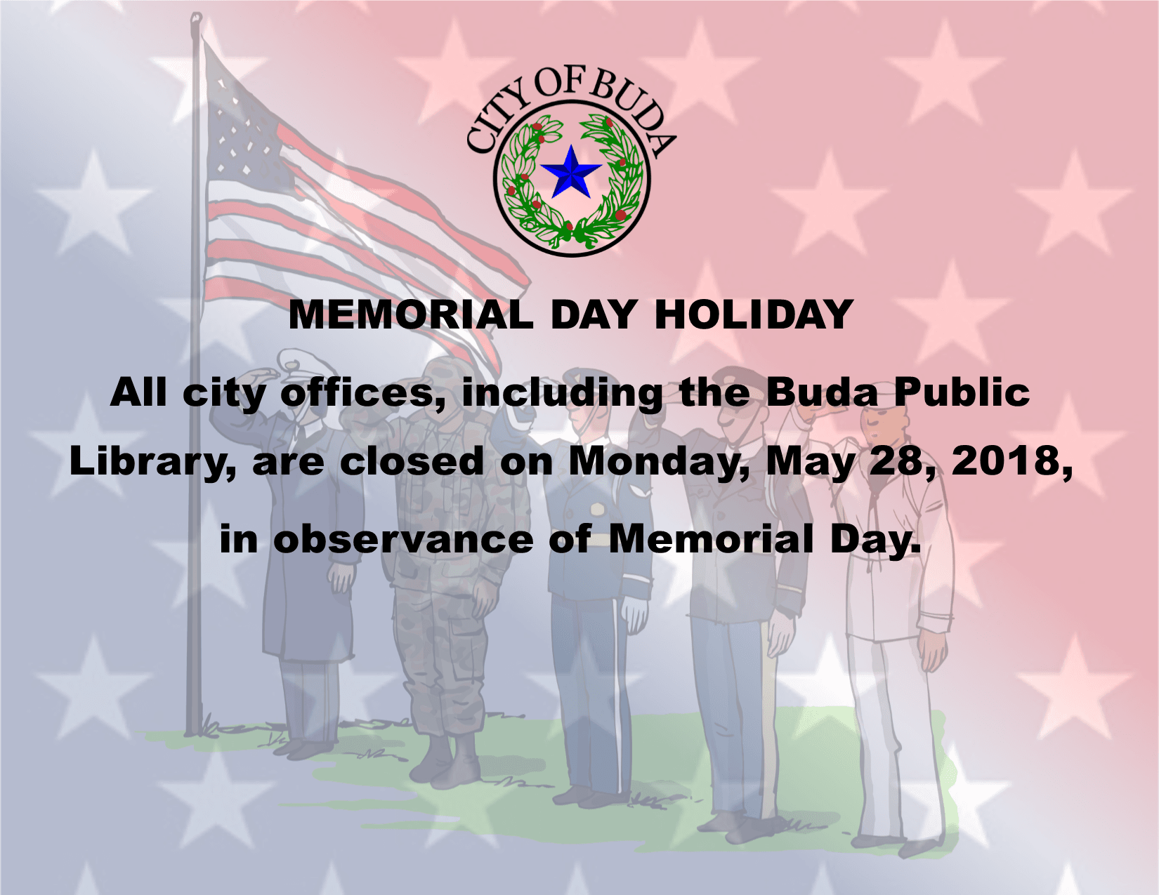 Memorial Day Holiday 2018