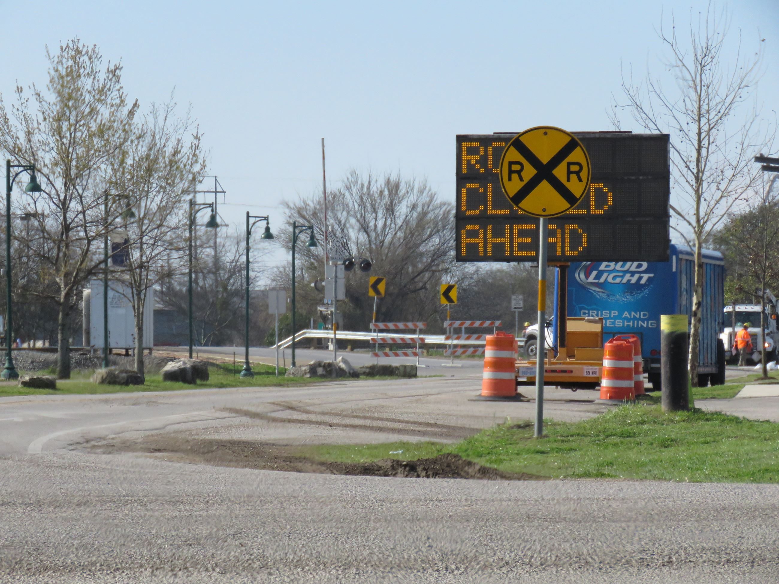Railroad Crossing Closed - West Goforth