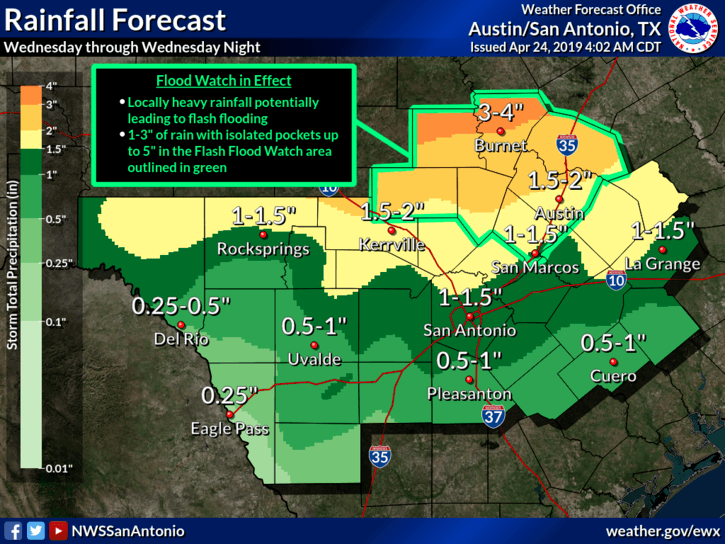 Flash Flood Watch - April 24, 2019