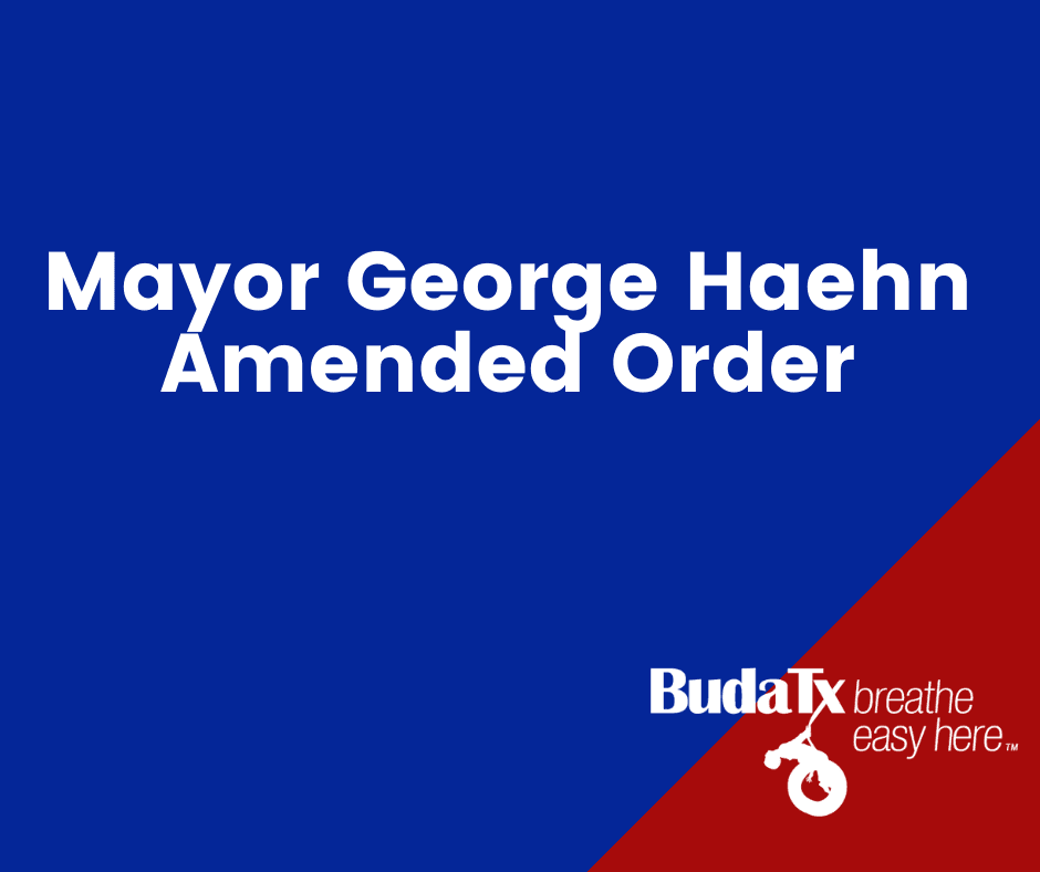 Mayor Haehn Amended Order (2)