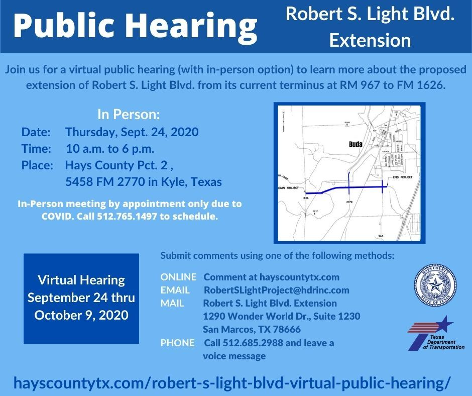 Robert S. Light Public Hearing UPDATE