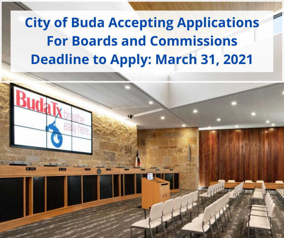 City of Buda Accepting Applications For Boards and Commissions