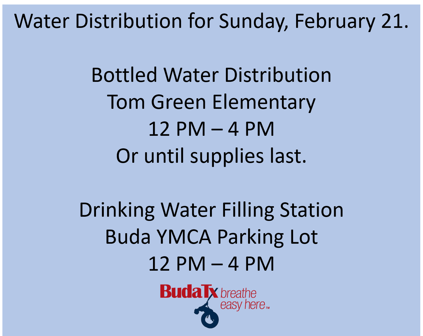 water distribution buda