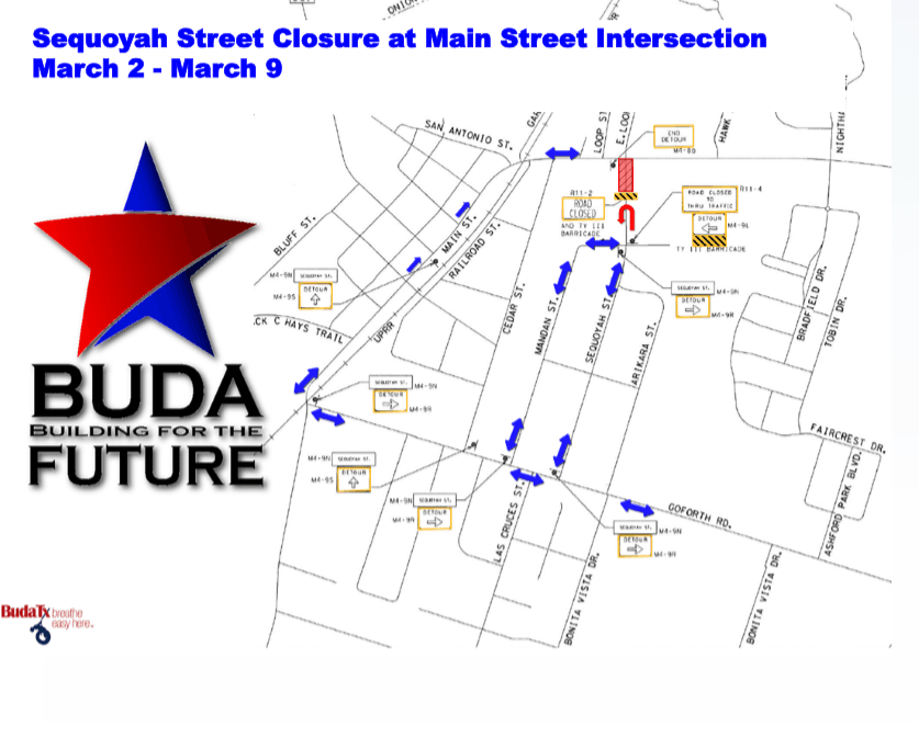 Sequoyah Street Closure MAP