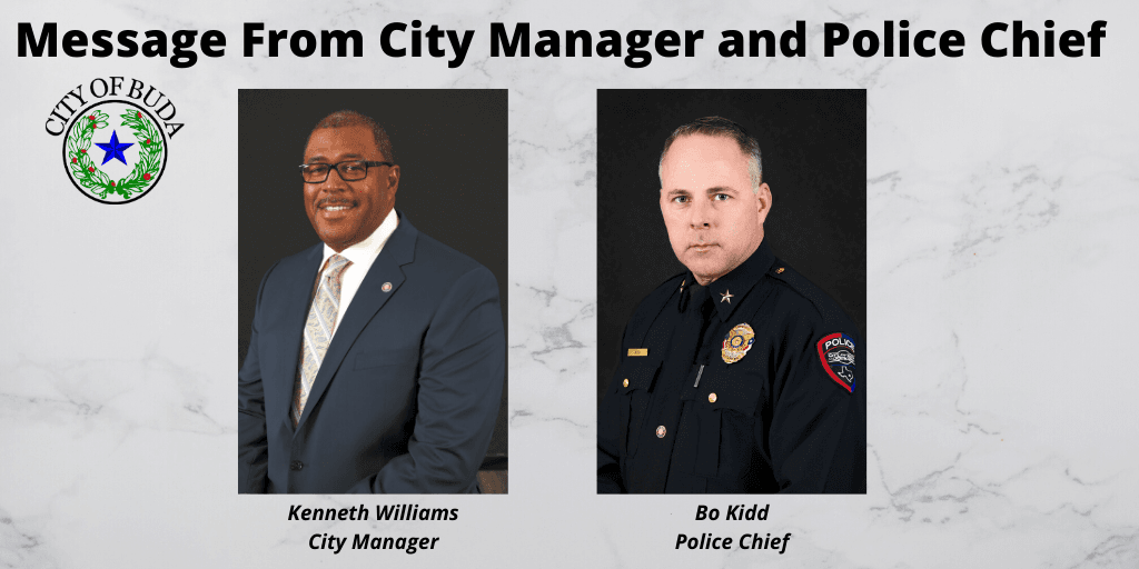 Message From City Manager and Police Chief