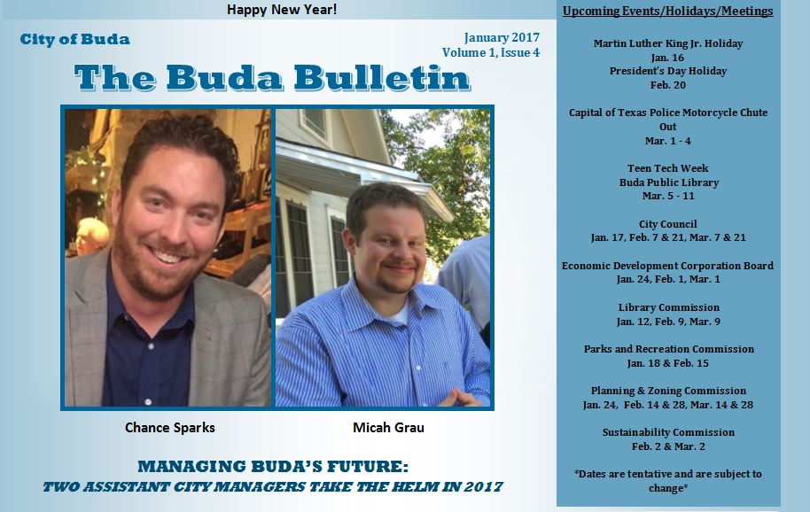 Picture of the Cover of Buda Bulletin