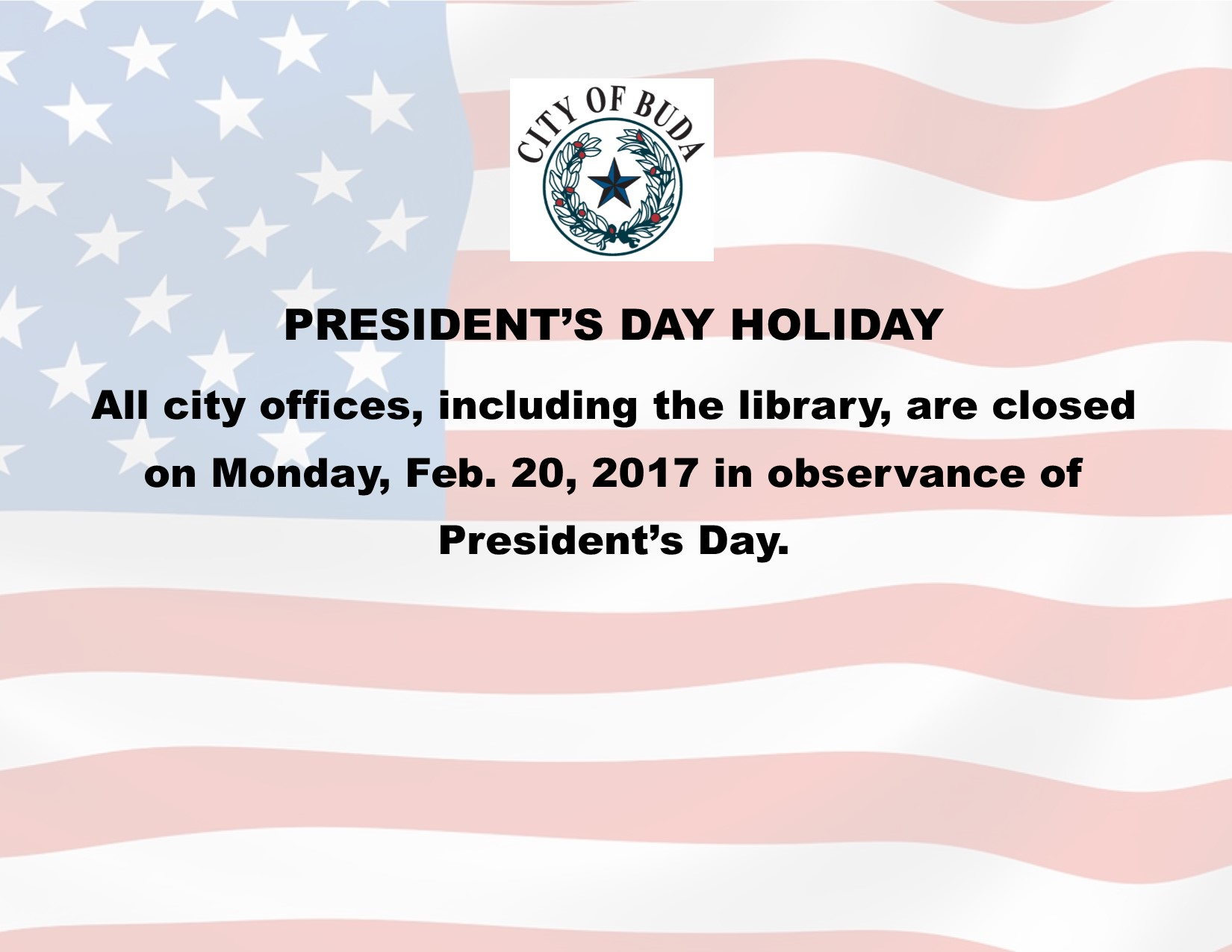 Presidents Day Holiday Pic