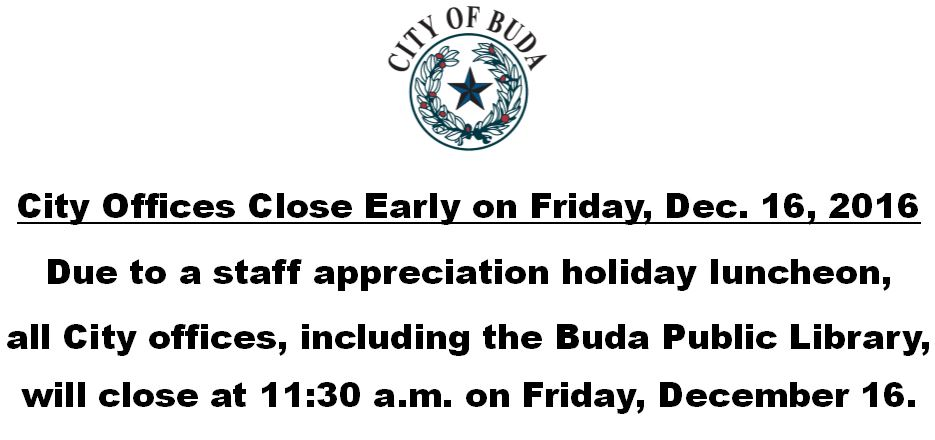Staff Appreciation Luncheon - City Offices Close Early on Friday, Dec. 16, 2016.JPG