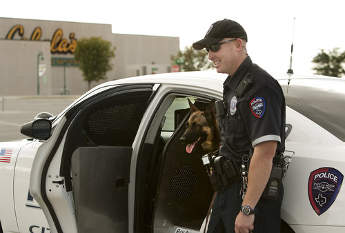 Officer and K9 Patrol Dog