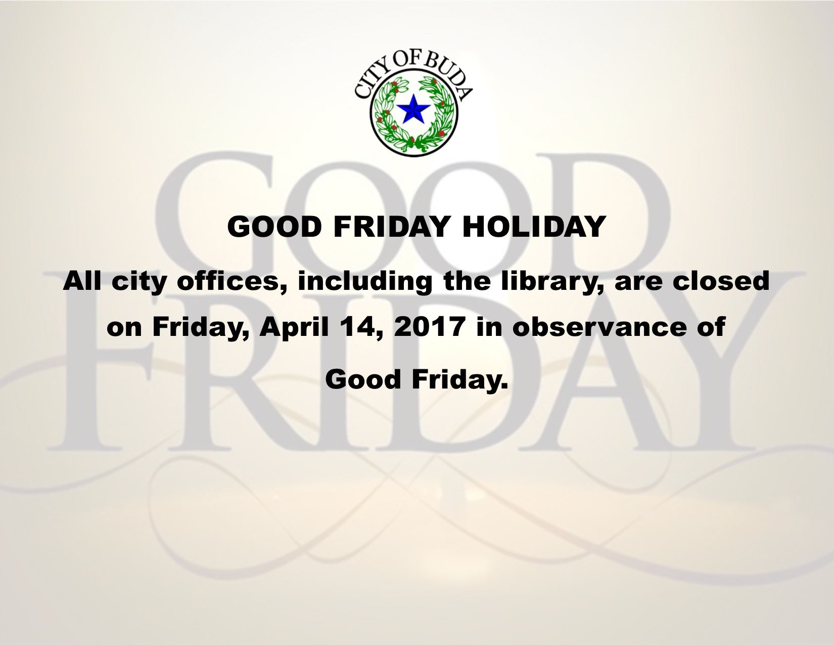 Good Friday Holiday