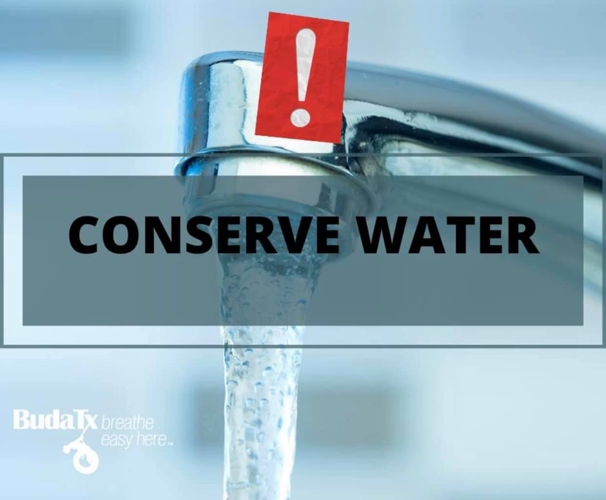 conserve water buda