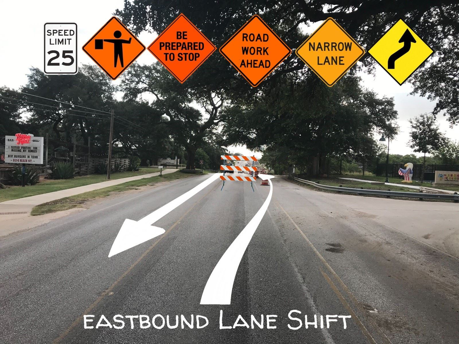 eastbound lanes - main street
